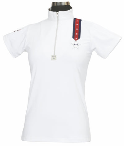 Equine Couture Ladies Stars & Stripes Short Sleeve Polo_5029