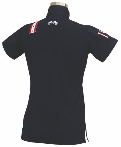 Equine Couture Ladies Stars & Stripes Short Sleeve Polo_5031
