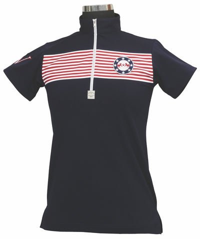 Equine Couture Ladies Patriot Short Sleeve Polo_5036