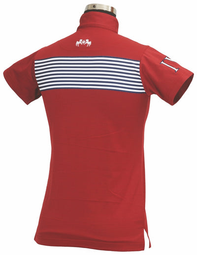Equine Couture Ladies Patriot Short Sleeve Polo_5038