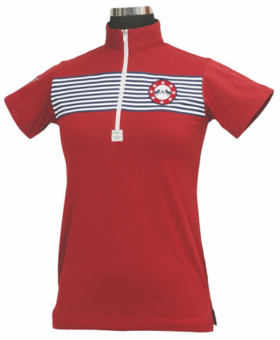 Equine Couture Ladies Patriot Short Sleeve Polo_5037