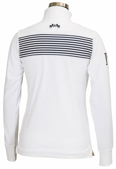 Equine Couture Ladies Patriot Long Sleeve Polo_5047