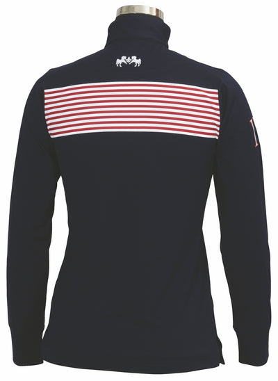 Equine Couture Ladies Patriot Long Sleeve Polo_5049