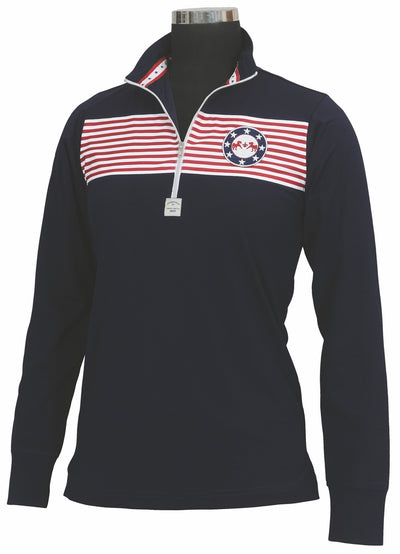 Equine Couture Ladies Patriot Long Sleeve Polo_5048