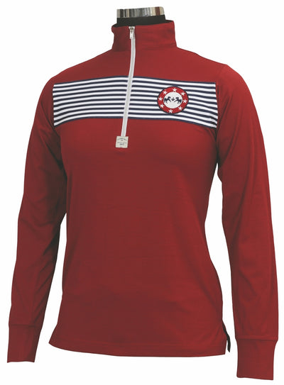 Equine Couture Ladies Patriot Long Sleeve Polo_5050