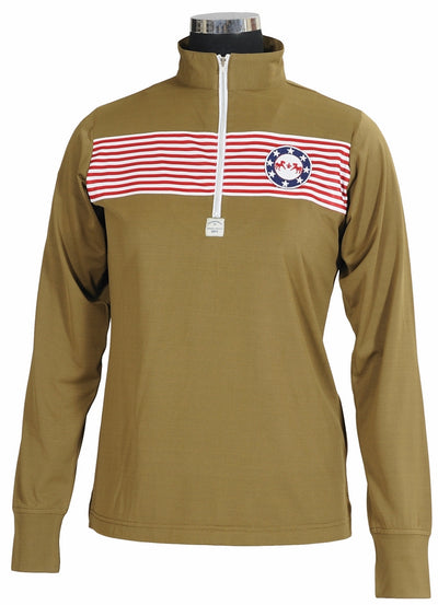 Equine Couture Ladies Patriot Long Sleeve Polo_5051