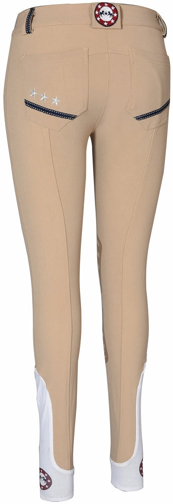 Equine Couture Ladies Super Star Knee Patch Breeches_4883