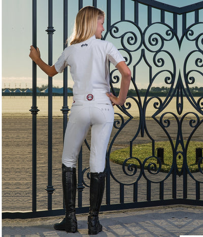 Equine Couture Children's Stars & Stripes Knee Patch Breeches_4886