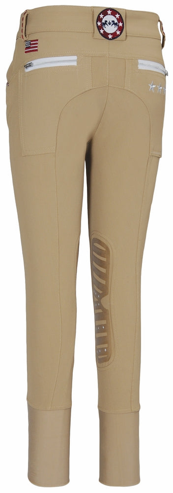 Equine Couture Children's Stars & Stripes Knee Patch Breeches_4888