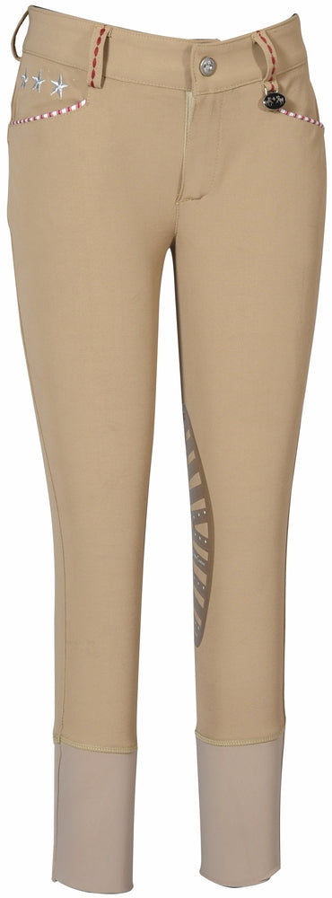 Equine Couture Children's Stars & Stripes Knee Patch Breeches_4887