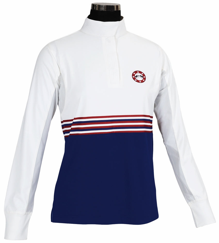 Equine Couture Ladies Centennial Long Sleeve Show Shirt_3966