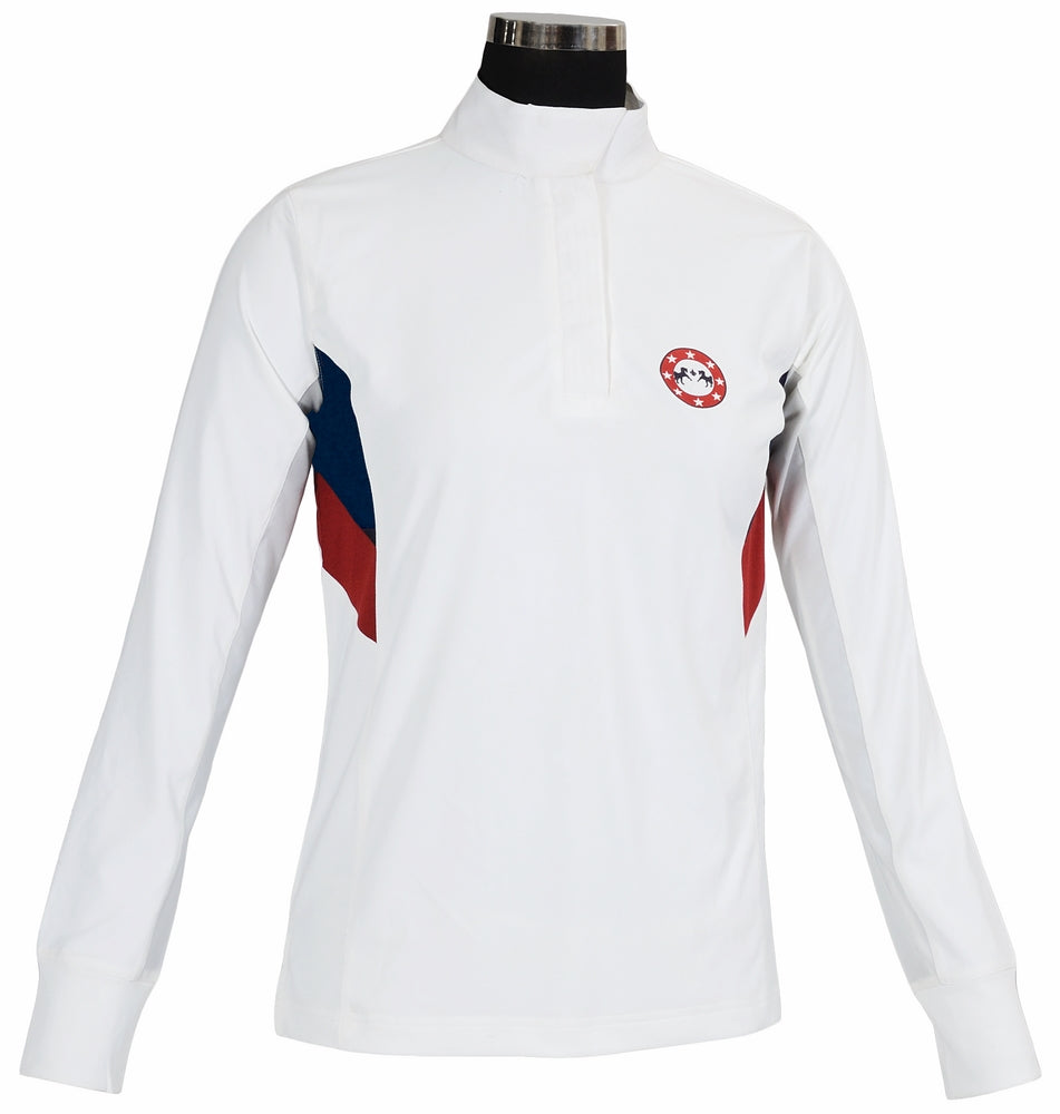 Equine Couture Ladies Bostonian Long Sleeve Show Shirt_779