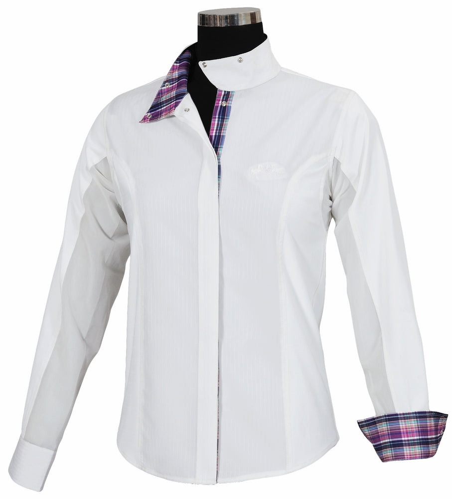 Equine Couture Ladies Amber Long Sleeve Show Shirt_3989