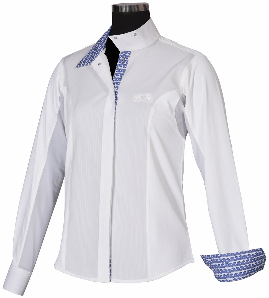 Equine Couture Ladies Waves Show Shirt_795