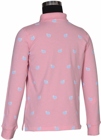 Equine Couture Children's Whales Long Sleeve Polo_3994