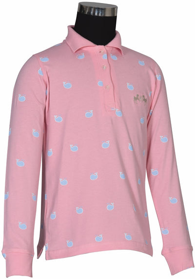 Equine Couture Children's Whales Long Sleeve Polo_3993