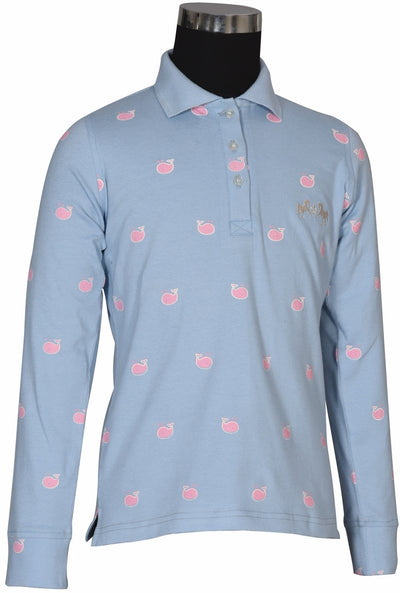 Equine Couture Children's Whales Long Sleeve Polo_3995
