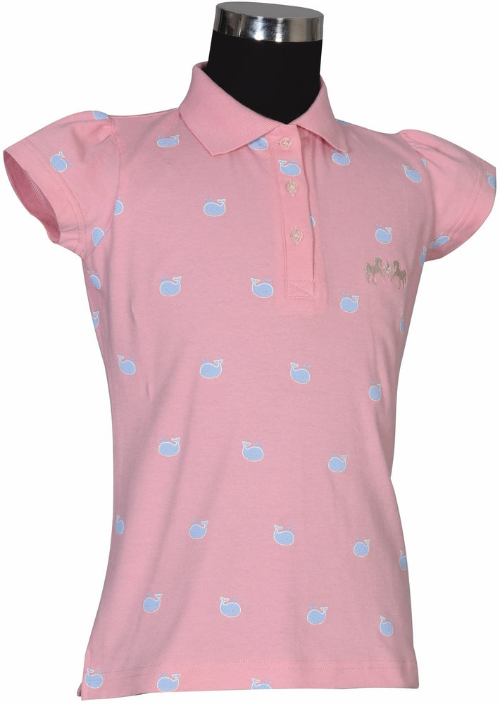 Equine Couture Children's Whales Short Sleeve Polo_802