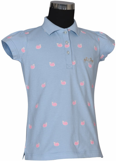 Equine Couture Children's Whales Short Sleeve Polo_804