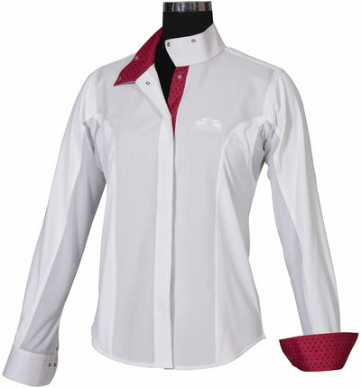 Equine Couture Ladies Raspberry Show Shirt_4077