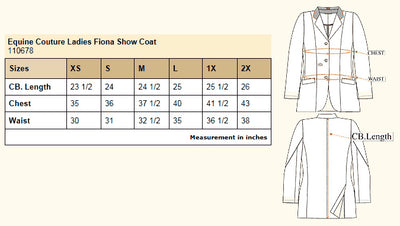 Equine Couture Ladies Fiona Show Coat_4099