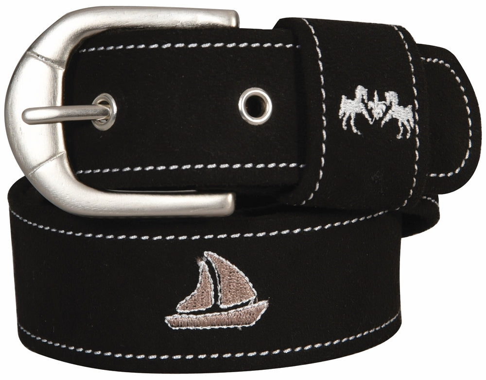 Equine Couture Boat Suede Belt_3343