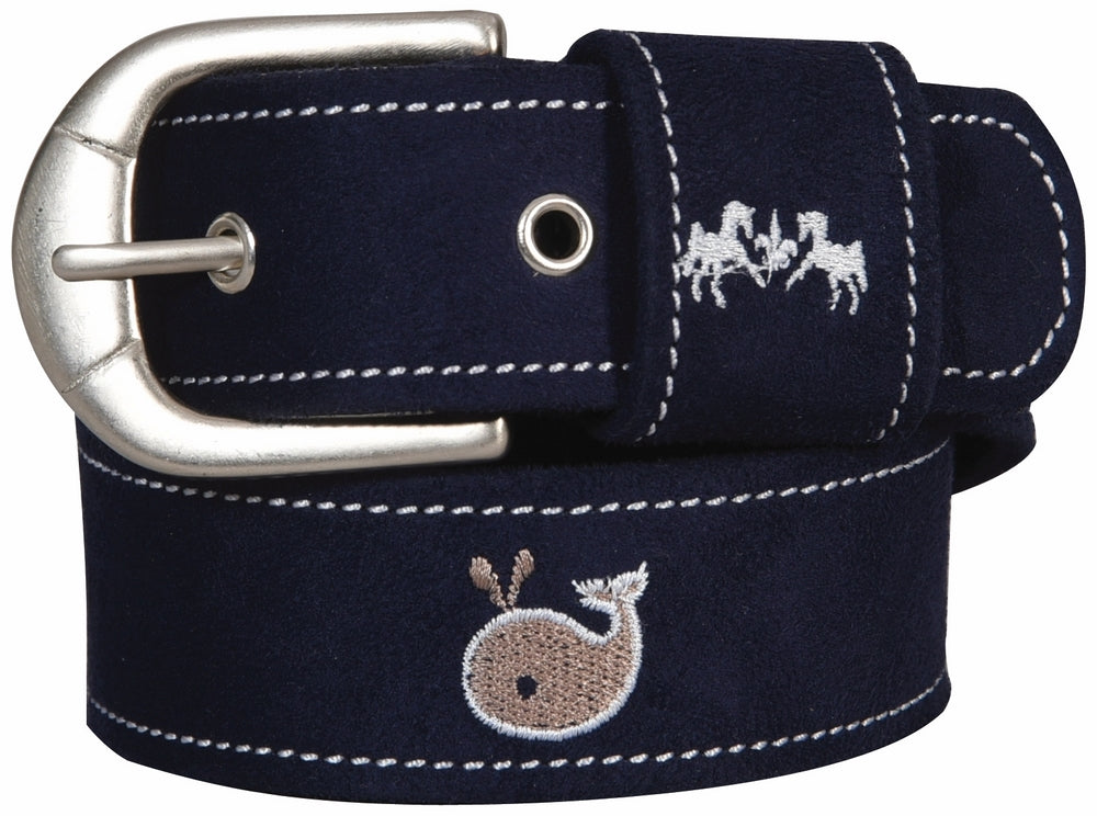 Equine Couture Whales Suede Belt_1