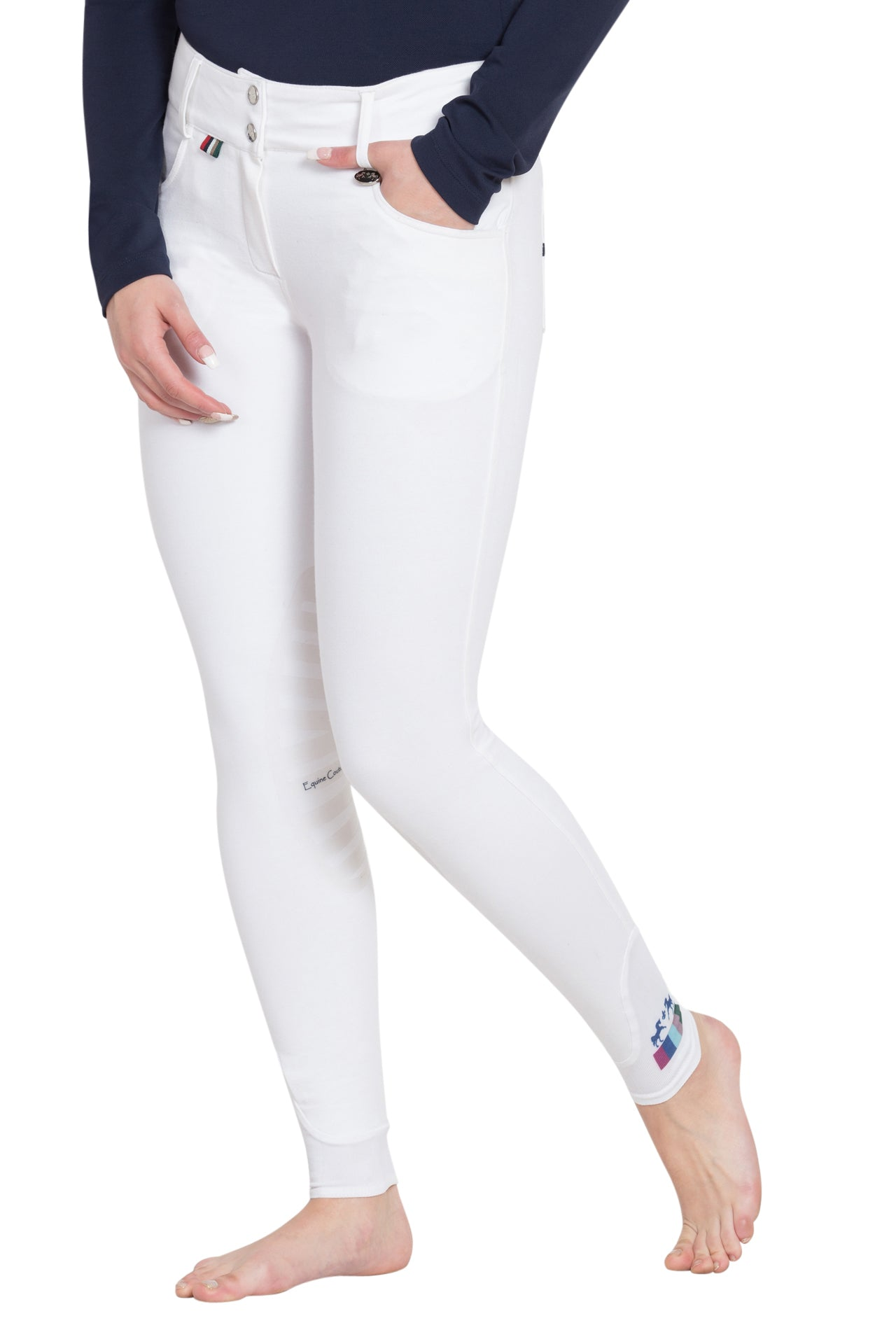 Equine Couture Ladies Sophie Silicone Knee Patch Breeches_192