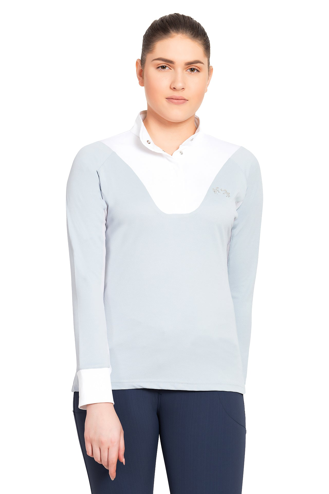 Equine Couture Ladies Maggie Long Sleeve Show Shirt_4104