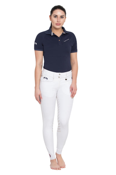 Equine Couture Ladies Performance Short Sleeve Polo Sport Shirt_4159