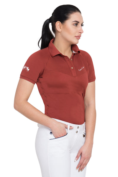 Equine Couture Ladies Performance Short Sleeve Polo Sport Shirt_4163