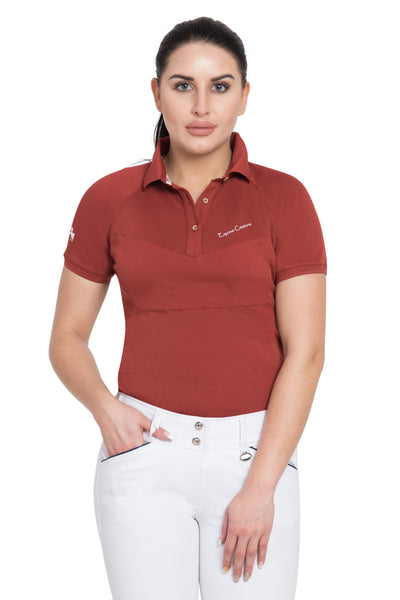 Equine Couture Ladies Performance Short Sleeve Polo Sport Shirt_4161