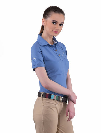 Equine Couture Ladies Performance Short Sleeve Polo Sport Shirt_4169