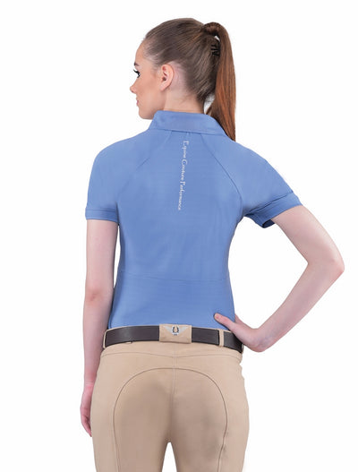 Equine Couture Ladies Performance Short Sleeve Polo Sport Shirt_4171