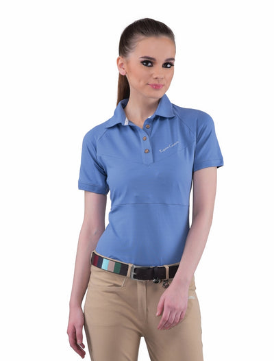 Equine Couture Ladies Performance Short Sleeve Polo Sport Shirt_4168