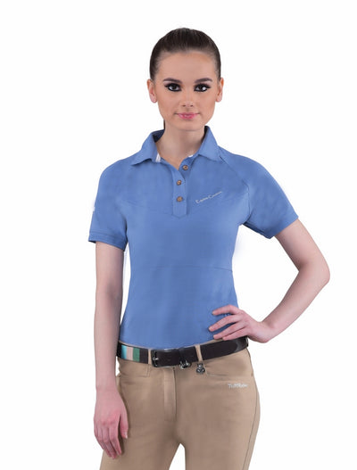 Equine Couture Ladies Performance Short Sleeve Polo Sport Shirt_4167
