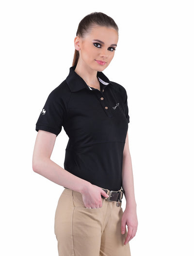 Equine Couture Ladies Performance Short Sleeve Polo Sport Shirt_4174