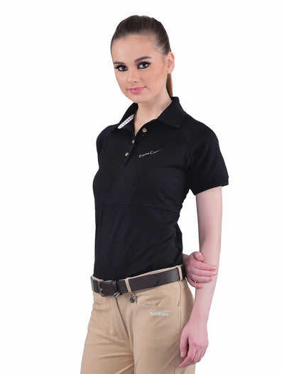 Equine Couture Ladies Performance Short Sleeve Polo Sport Shirt_4175