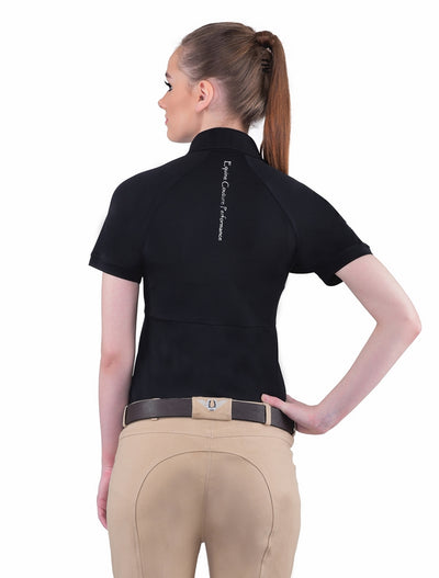 Equine Couture Ladies Performance Short Sleeve Polo Sport Shirt_4176