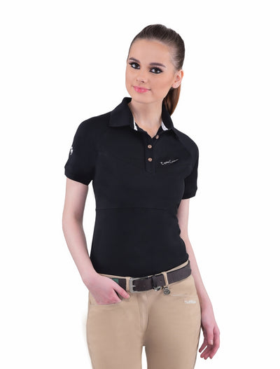 Equine Couture Ladies Performance Short Sleeve Polo Sport Shirt_4173