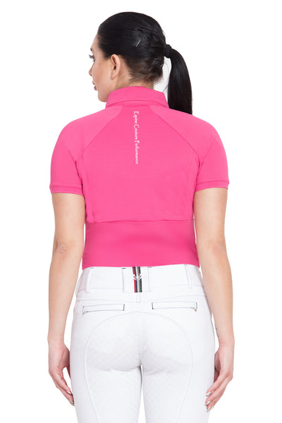 Equine Couture Ladies Performance Short Sleeve Polo Sport Shirt_4179