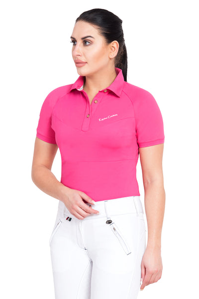 Equine Couture Ladies Performance Short Sleeve Polo Sport Shirt_4178