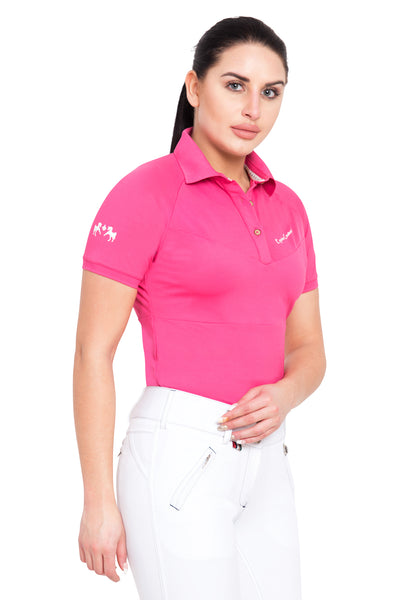 Equine Couture Ladies Performance Short Sleeve Polo Sport Shirt_4177