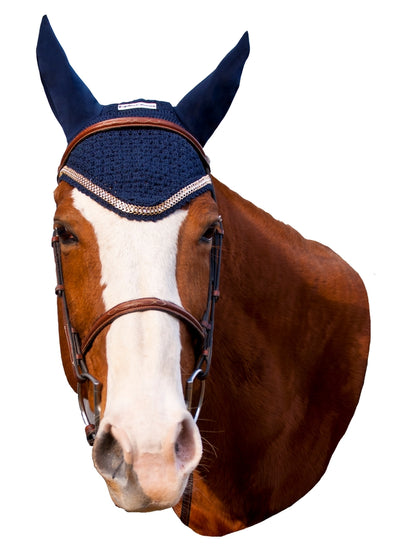Equine Couture Fly Bonnet with Gold Chain_2