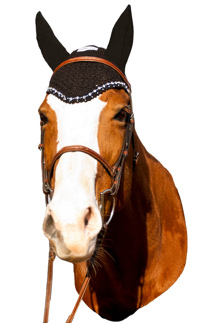 Equine Couture Fly Bonnet with Crystals_3015