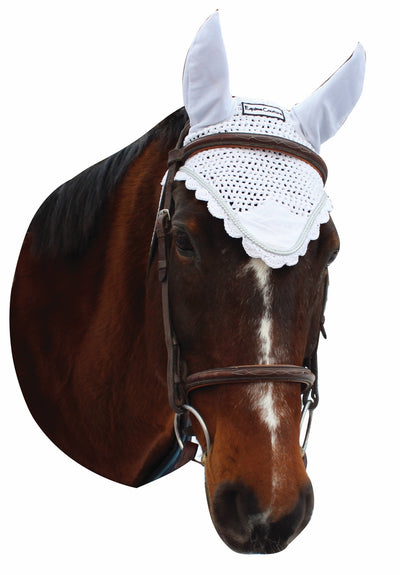 Equine Couture Fly Bonnet with Silver Rope_3022