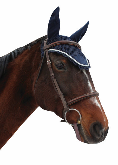 Equine Couture Fly Bonnet with Silver Rope_3023