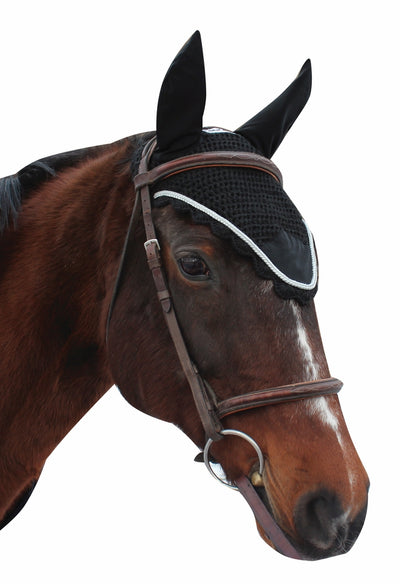 Equine Couture Fly Bonnet with Silver Rope_3024