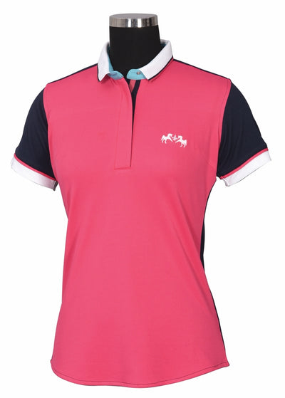 Equine Couture Ladies Pearl Short Sleeve Polo Sport Shirt_4268