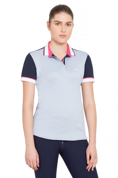 Equine Couture Ladies Pearl Short Sleeve Polo Sport Shirt_4264